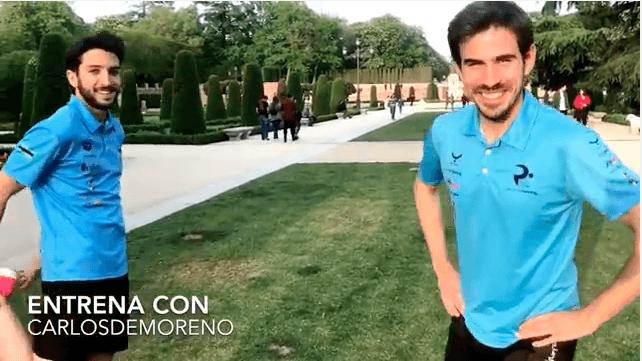 Personal Running en el Retiro de Madrid con dos jovenes Extremeños