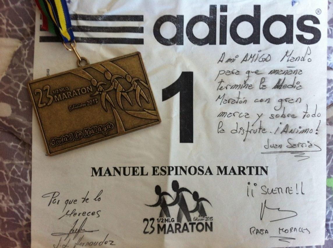 Dorsal 1 Media Maratón Málaga por @Surman